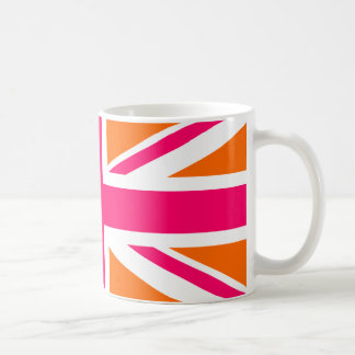 Orange and Pink Union Jack Coffee Mug