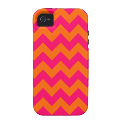 Orange and Pink Zigzag iPhone 4 Cover