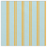 [ Thumbnail: Orange and Powder Blue Colored Pattern of Stripes Fabric ]