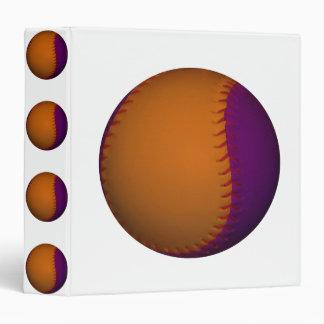Orange and Purple Baseball Binder