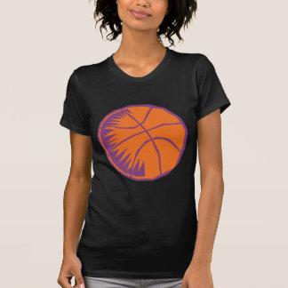 orange and purple basketball graphic T-Shirt