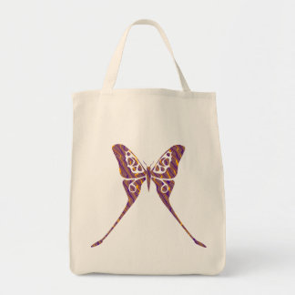 Orange and Purple Butterfly Bag