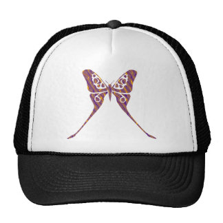 Orange and Purple Butterfly Hat