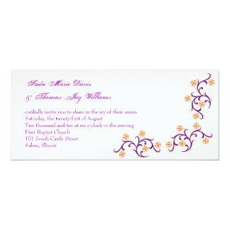 orange and purple card