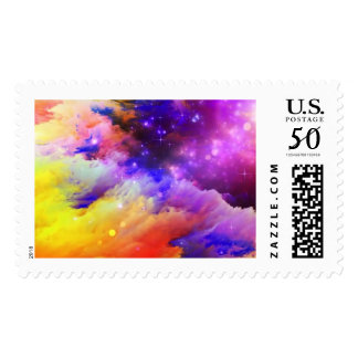 Orange and purple cosmos postage