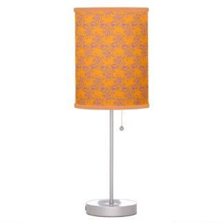Orange and Purple Curlie Cues Pattern Lamps