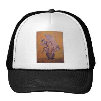 Orange and Purple Flowers and Vase Trucker Hat