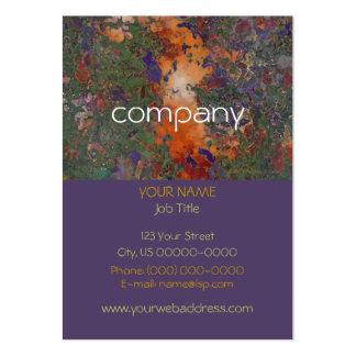 Orange and Purple Flowers Profile Card