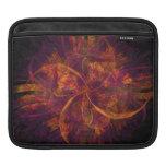 Orange And Purple Fractal Swirl iPad Sleeve