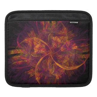 Orange And Purple Fractal Swirl Sleeve For iPads