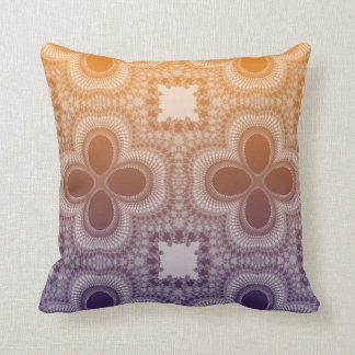 Orange and Purple Gradient Abstract Pillow