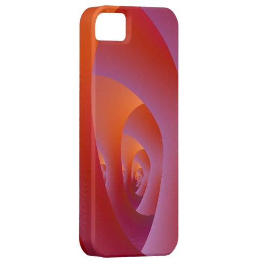Orange and Purple Labyrinth iPhone SE/5/5s Case