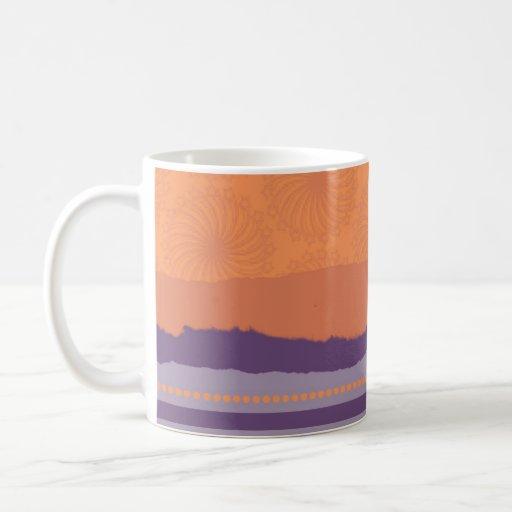 Orange and Purple Modern Coffee Mug
