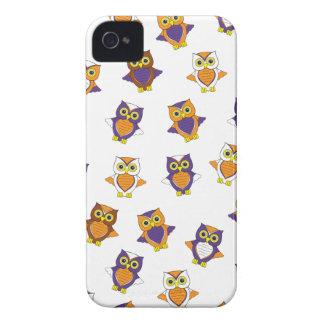 Orange and Purple Owl  Phone Case iPhone 4 Case