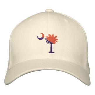 Orange and Purple Palmetto Embroidered Hat