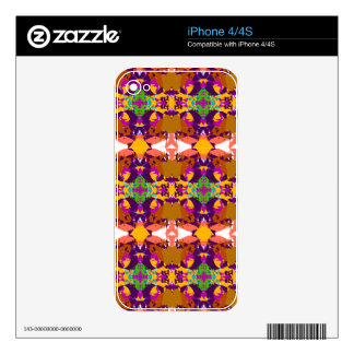 Orange and Purple Plaid Design Decal For The iPhone 4S