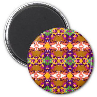 Orange and Purple Plaid Magnet