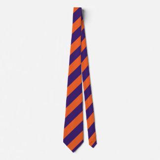 Orange and Purple Regimental Stripe Tie