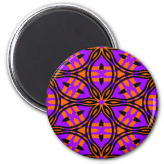 Orange and Purple Star flower Magnet