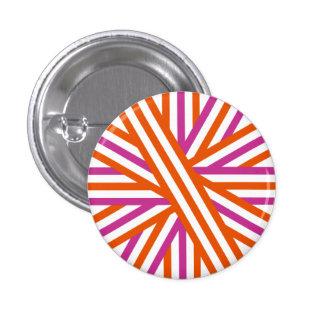 Orange and Purple Stripe Button