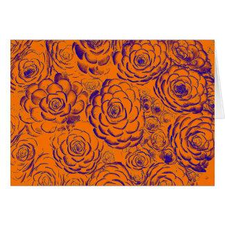 Orange and purple Succulent Greeting Card