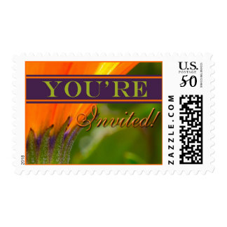 Orange And Purple Theme Event And Wedding Postage