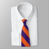 Orange and Purple University Stripe Tie