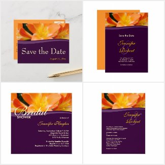 Orange and Purple Wedding Collection