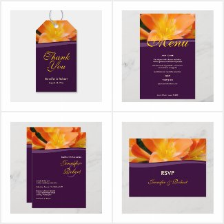 Orange and Purple Wedding Collection