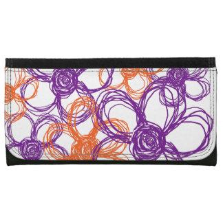 Orange and Purple Wild Flowers Wallets