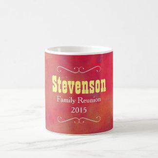 Orange and Red Abstract Family Reunion Keepsake Coffee Mug