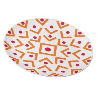 Orange and Red Abtract Design Plate