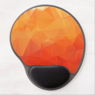 Orange and Red Facet Pattern Gel Mouse Pad