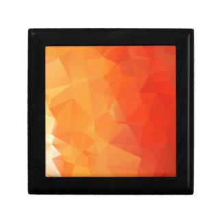 Orange and Red Facet Pattern Keepsake Box
