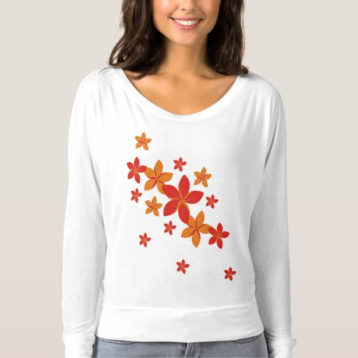 Orange And Red Flowers T Shirt Zazzle