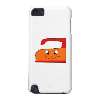 Orange and Red Iron Cartoon On White iPod Touch 5G Cover