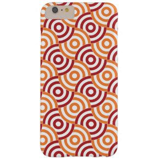 Orange and Red Overlapping Bullseye iPhone 6+ Case