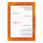 Orange and Red Paisley Indian Wedding Custom Invitations