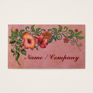 Orange and Red Petunias Business Card