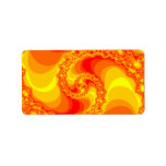 orange and red spiral fractal address label