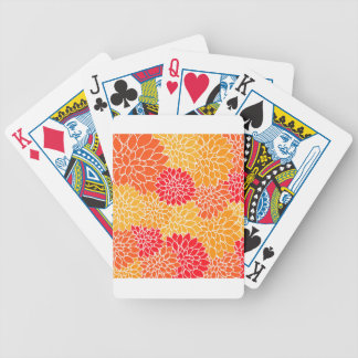 Orange and Red Vector Sunburst Flowers Bicycle Playing Cards