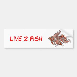 Orange and Rust Swirly Fantail Goldfish Bumper Sticker