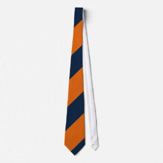 Orange and Shy Blue Neck Tie