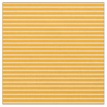 [ Thumbnail: Orange and Tan Colored Stripes/Lines Pattern Fabric ]