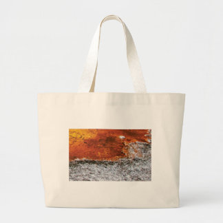 orange and tan mix large tote bag