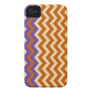 Aztec Themed Orange and Tan Zigzags With Border iPhone 4 Case-Mate Case