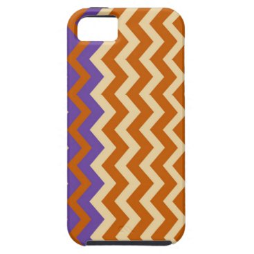 Aztec Themed Orange and Tan Zigzags With Border iPhone SE/5/5s Case