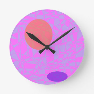 Orange and the Shadow Round Wallclock