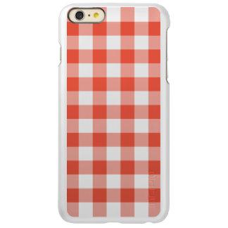 Orange and Transparent Gingham Pattern Incipio Feather® Shine iPhone 6 Plus Case