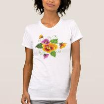 Orange and Violet Flower T-Shirt